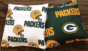 8 ACA Regulation Cornhole Bags 8 handmade from Green Bay Packers Fabric 2 Prints