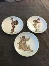 3-Plate Lot BROWNIE DOWNING Australian Aboriginal Tinka Piccananny Child Plates