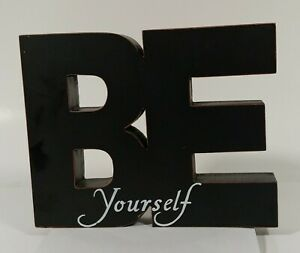 Be Yourself Freestanding Large Inspirational Wooden Letters Home Décor