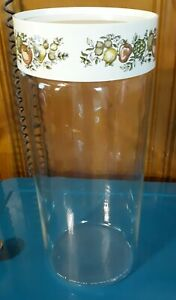VINTAGE CORNING WARE PYREX SPICE OF LIFE PASTA SPAGHETTI CANISTER NICE