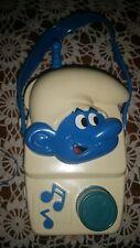 1982 Vintage Illco Smurf Musical Toy Radio Moving Eyes Toy