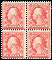 461, Mint VF NH RARE 2¢ Block of Four With PFC Certificate CV $1300 Stuart Katz