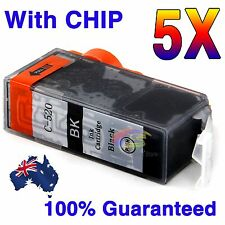 5x Ink PGI520 Black Only for Canon MP640 MP620 MP630 MX870 IP4700 MP550 Printer