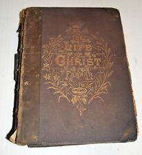 Antique Illustrated Book LIFE OF CHRIST Nativity Magi Visit Apostles