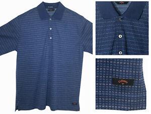CALLAWAY FT PERFORMANCE Men's Blue Tencel Polyester Golf Polo Shirt sz L NWOT