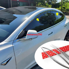 For Tesla Model 3 2017-2020 Chrome Window Visor Vent Shades Sun Rain Guard 4pcs