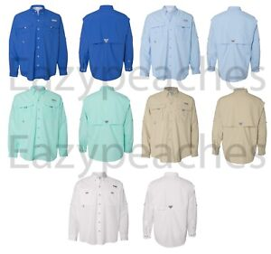 Columbia Sportswear Men's Bahama II Long Sleeve Shirt, Size S-XXL, 3XL - UPF 30+
