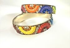 Bangle Bracelets Colorful BOHO BollyWood ~2~ Bling Rainbow Rhinestones Metal