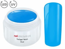 UV Farbgel NEON BLUE French Color Gel Modellage Nail Art Design Nagel Blau Tips
