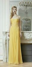 NWT $6630 Zuhair Murad 10 Wrap Beaded Evening Gown Dress Long Yellow Silk 44 40
