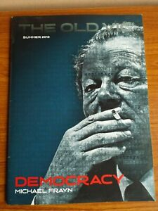 """DEMOCRACY"" Programme, Used Ticket, Old Vic, West End London Theatre"