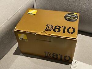 Nikon D810 DSLR Camera Body + Battery & Charger 20K Shots + Box -EXC
