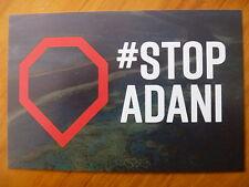 POSTCARD..STOP ADANI MINING..STOP COAL MEGA-MINE..BIGGEST COAL MINE IN AUSTRALIA