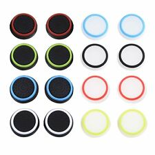 8Pcs Mixed Colors Silicone Thumb Stick Grip Caps Protect Cover for PS4 Xbox 360
