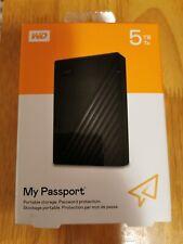 "Western Digital My Passport 5TB External 2.5"" Portable Hard Drive USB"