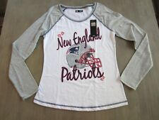New England Patriots NFL Team Apparel Long-Sleeve T-Shirt, Girls' Size 16/18