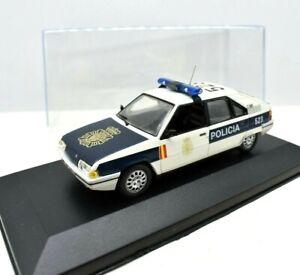 MODELLINO AUTO POLIZIA POLICE MONDO SCALA 1:43 CITROEN BX DIECAST COLLEZIONE