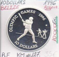 BELIZE - 10 DOLLARS - 1996 (10 000 Ex) Pièce COMMEMORATIVE EN ARGENT // BE