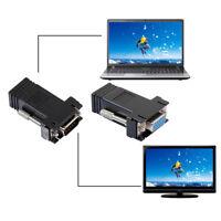 1pcs Female/Male Extender VGA RGB HDB to LAN CAT5 CAT6 RJ45 Net Cable Adapter  o