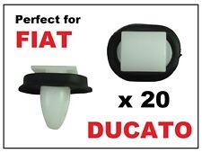 20 x FIAT DUCATO EXTERIOR SIDE MOULDING RUB BUMP STRIP LOWER DOOR TRIM  CLIPS