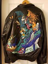 Mickey Mouse vintage leather Fantasia jacketXlarge The Disney Store 2000