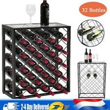 Casier à vin en métal  Au sol 32 Porte-bouteilles   Empilable en fer Stand  
