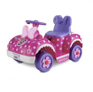 Minnie Mouse Toddler Ride-On Toy Car 6V Battery/ Charger Push Button Lights Fun!