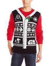BNWT Sealed Men's Small Star Wars Darth Vader Christmas Holiday Sweater