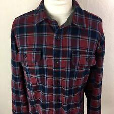 LL Bean Men's Shirt Long Sleeve Size XXL Shirt Jacket Lined Plaid Button Down