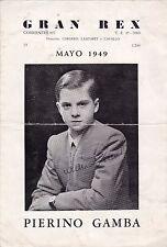 Pierino Gamba Signed Pianist Program 1949 VERY RARE!!!! Italy Conductor