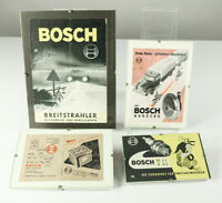Alte Werbung Bosch Prospekte Hörner Strahler Zündkerzen Batterien 50er Jahre