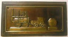 Vtg Framed Metal LOCOMOTIVE Train Engine Darlington England BULMERS STONE