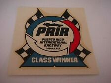 "vintage drag racing decal "" Puerto Rico International Raceway"""
