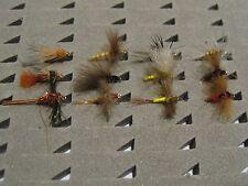 12 moscas variadas. Con muerte. Pesca a mosca. FLY FISHING (50)