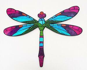 Mosaic/wood teal Dragonfly wall art plaque decoration L50cm x W38cm-NEW