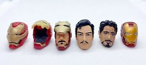 Marvel Legends Iron Man Tony Stark Head Lot Custom Fodder