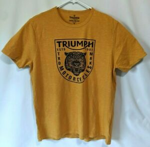 Lucky Brand Mens T-Shirt Triumph motorcycles Tiger New with Defects Read
