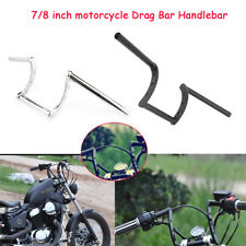 """22mm 7/8"""" Guidon Z-Bar Moto Bobber pour Honda Yamaha Suzuki Kawasaki Harley"""