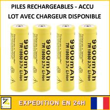 Pile accu batterie cellule Lithium-Ion rechargeable GTF 18650 3.7V 9900mAh