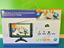 """LCD Digital Portable 9"""" Color Television and Digital Photo Frame New in Box"""