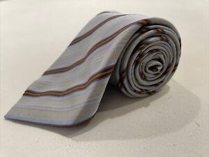 Ermenegildo Zegna Men's Blue Striped Silk Tie $195
