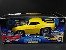Muscle Machines 1969 Chevy Camaro '69 Yellow 1:18 Scale Diecast Model Car