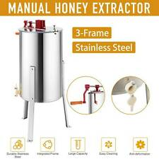 New listing 3-Frame Manual Honey Extractor Honeycomb Beekeeping Equipment Adjustable Stands
