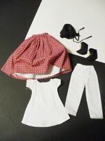 VTG 7PC Antique China Head Paper Mache Doll Clothes Prairie Bonnet Pantaloons