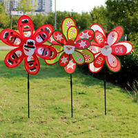 Double Layer Cute Christmas Windmill Kids DIY Outdoor Toys Garden Yard Decor0 YK