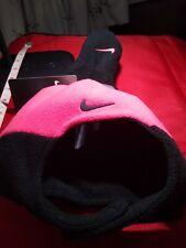 Nike Fleece Hat and Mittens Set Infant Girls Pink & Black