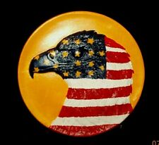 American Eagle Plate Hand Painted Ceramic Patriotic Home Decor