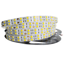 5M 16.4ft 12V SMD White 5050 IP20 Non-Waterproof 600 LED Double Row Strip Light