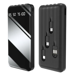 1000000mah Portable Power Bank LCD LED 4 USB Battery Charger For Phone Universal