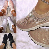 Fashion Loafers Casual Crystal Woven Slip On Sneakers Running Women Flying Sport